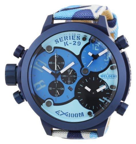 Welder - K29 8006 - Montre Mixte - Quartz Chronographe - Bracelet Différents Matériaux Multicolore