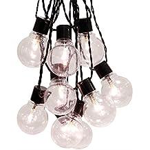 Best Season 476-25 - Guirnalda con bombillas (55 mm, 16 bombillas, plástico, led de color blanco cálido, aprox. 4,50 m, cable, para exteriores)