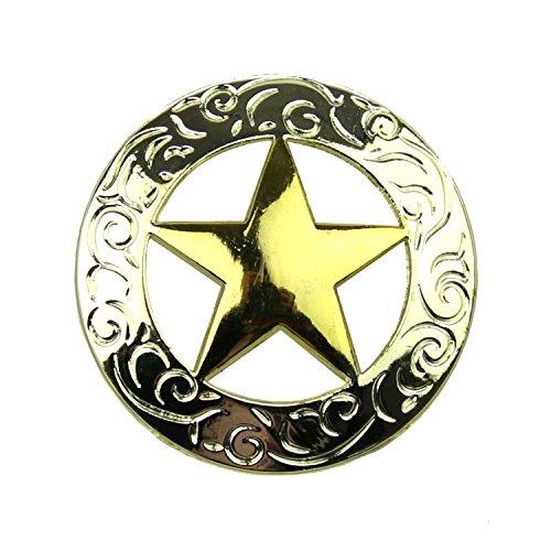 Magic Show 10pcs Western Silver & Gold Texas Star Saddle Conchos 3cm TO183