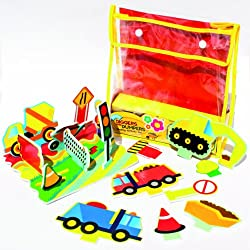 Meadow MEA-MK037 Kids Diggers and Dumpers Floating Activity Set - Multicolour