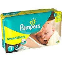 Pampers Stages Swaddlers New Baby Diapers Size 1 (8-14 lb) by Pampers