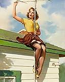 Berkin Arts Gil Elvgren Giclée Leinwand Prints Gemälde Poster Reproduktion(Pin Up Girls 39)