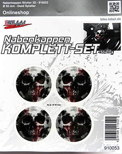 Nabenkappen 3D - 910053 Dead Splatter - Felgendeckel Radnabendeckel 55 mm