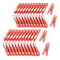 culiclean Non Slip Clothes/Laundry Pegs (48 pieces, coral-white