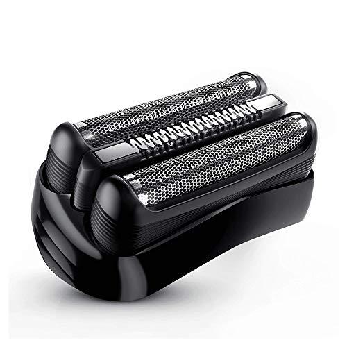 Braun 21B - Recambio para afeitadora eléctrica hombre, compatible con todas Series 3 y CruZer, color negro