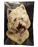 West Highland Terrier Gift–Einzigartige Handarbeit Holz Key Rack/Hundeleine Halter. Größe ca. 20,3x 12,7cm