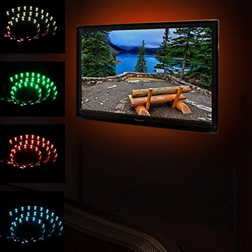 unho TV LED Beleuchtung, RGB TV Hintergrundbeleuchtung USB LED-Streifen Wasserdicht Dimmbare Lichterkette Lichtschlauch für 60 bis 65 Zoll TV Backlight/Fernseher Beleuchtung Dekoration