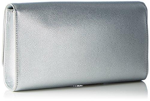Mario Valentino Damen Divina Umhängetasche, 4.5x12x27 cm Silber (Argento)