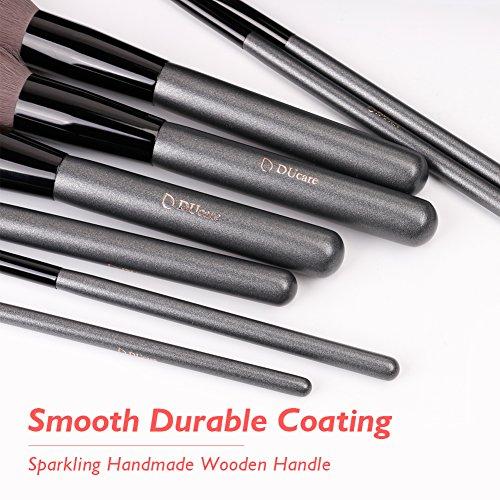 DUcare 15Pcs Make Up brushes Set Luxury Grey