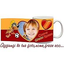 Tazza Roma cuore Giallorosso Personalizzata con nome,frase,foto ecc Idea Regalo