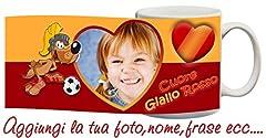 Idea Regalo - Tazza Roma cuore Giallorosso Personalizzata con nome,frase,foto ecc Idea Regalo