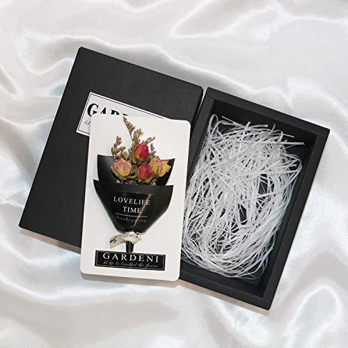Lbzdr biglietto di auguri insegnante di biglietti di auguri di fiori secchi di natale fatto a mano a san valentino per inviare a uomini e donne gli amici regalo di compleanno idee carta di laurea q3pcs
