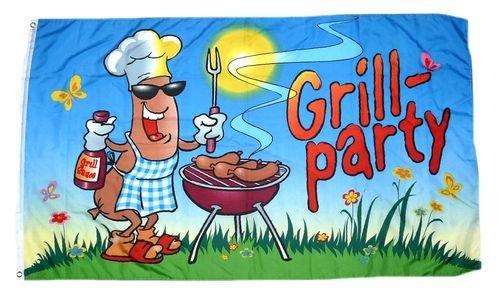 Flagge / Fahne Grillfahne Grill Party 60 x 90 cm (Grill Fahne)