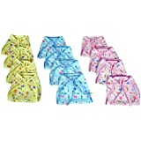 Reusable Cotton Cloth Printed Diaper / Langot / U Shape Nappy For New Born Baby (0-6 Months Pack Of 12)