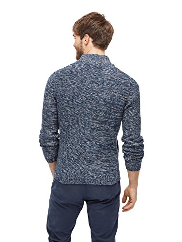 TOM TAILOR Herren Pullover Multicolored Sweater true dark blue