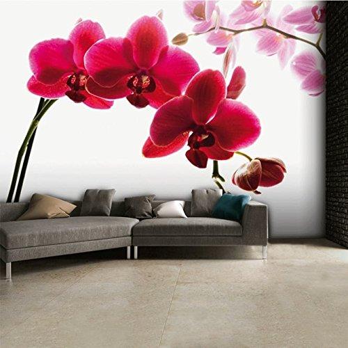 orchidee-blumen-wandtapete-dekoration