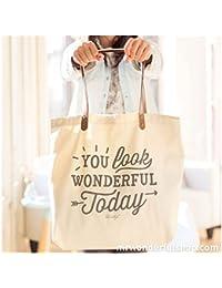 Mr. Wonderful You Look Wonderful Today Bolso, Color Beige
