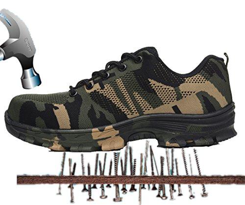 Axcer s3 scarpe da lavoro per uomo e donna comodissime traspiranti scarpe antinfortunistiche con punta in acciaio calzature da cantiere stivali da escursionismo scarpe sneaker sportive di sicurezza