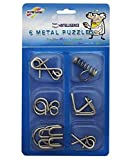 #3: IQ Test Mind Game Toys Brain Teaser Metal Wire Puzzles Magic Trick Set of 6 (Stainless Steel 6 Metallic Intellectual Puzzles For All Age Groups.) mw puzzle