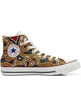 Converse All Star zapatos personalizadas Unisex (Producto Artesano) Tribal Texture
