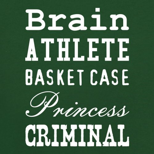 Brain Athlete Basket Case Princess Criminal - Herren T-Shirt - 13 Farben Flaschengrün