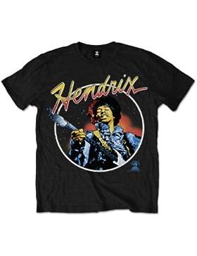 Jimi Hendrix Script Circle - Camiseta manga corta Hombre