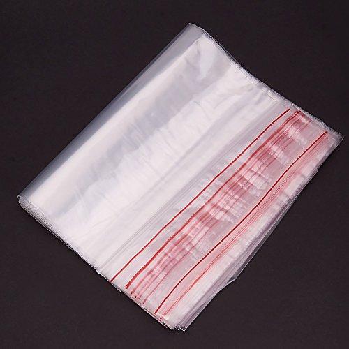 % Pandahall 100 x Bustine di Plastica Trasparenti con Chiusura ZIP 17x25cm Busta Confezione, 0.04mm di Spessore confronta il prezzo online