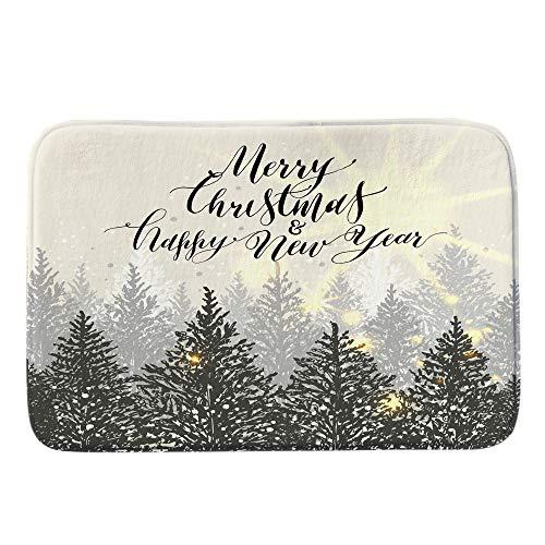 TianranRT Frohe Weihnachten Willkommen Fußmatten Innen- Zuhause Teppiche Dekor Begrüßen Indoor zu Hause 40x60CM