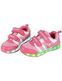 Angin-Tech 7 Colores de Carga USB Zapatos Casual Kid Intermitente Zapatillas de Deporte de LNiños y Niñas para el Cumpleaños de Navidad con el Certificado CE