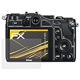 atFoliX Schutzfolie für Nikon Coolpix P7000 Displayschutzfolie - 3 x FX-Antireflex blendfreie Folie