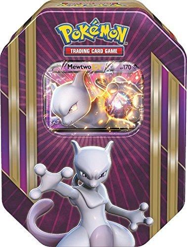 on Karten Tin Box Mewtwo-EX in EN Englisch Trading Card Game / Metallbox ()