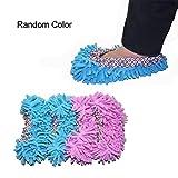 EQLEF® Multi-Function ciniglia fibra lavabile Dust Mop Pantofole - colore casuale (coppia)