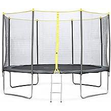 Alice's Garden - Cama elástica, Trampolin de 370 cm, Estructura reforzada soporta 150kg, Incluye: escalera + funda protectora - Okapi