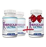 Herzolex Ultra - Diätpille für effektiven Fett- und Gewichtsverlust | Jetzt 2 kaufen und 1 gratis dazu erhalten | (3 Flaschen)
