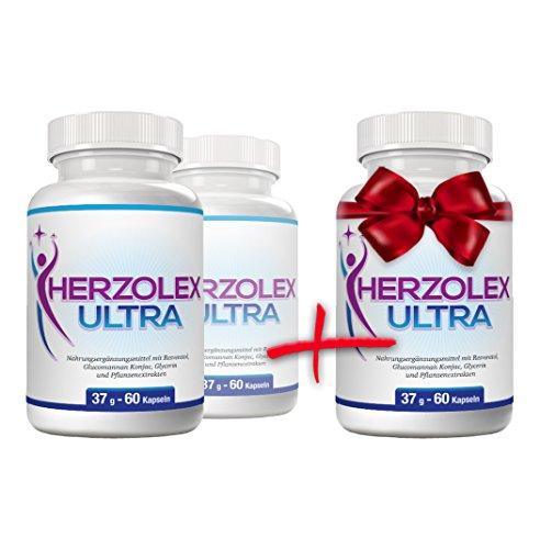 Herzolex Ultra – Diätpille für effektiven Gewichtsverlust | Kaufe 2 Flaschen und erhalte 1 gratis dazu (3 Flaschen)