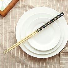 asentechuk® 5pares Mango Largo bambú Hot Pot Pasta cocción antideslizante palillos Vajilla Vajilla 33cm /13 inch negro
