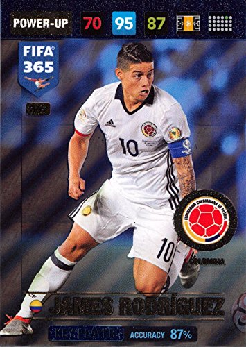 Panini FIFA 365 Adrenalyn XL 2017 James Rodriguez Key Player Trading Card -