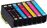 Metro Market 7 Stücke Kompatible Patronen Epson 24 XL Druckerpatronen Kompatibel für Epson Expression Photo XP-55 XP-950 XP-860 XP-960 XP-750 XP-760 XP-850 Printer