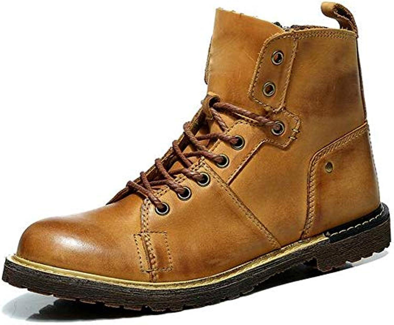 HWG-GAOYZ Stivali Scarpe da Uomo Stivali Martin Moda Casual Autunno E Inverno All'aperto in Pelle Casual Antiscivolo... | Shop  | Gentiluomo/Signora Scarpa
