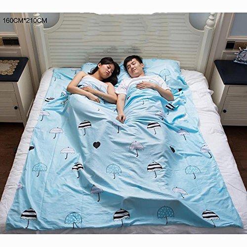 MIAO Home Hotel Portable Erwachsene Baumwolle Dirty Gesundheit Schlafsack , (Fuß Und Mit Onesies Haube)