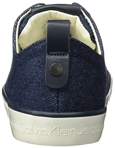 Calvin Klein Jeans Donata Metal Denim, Sneakers Basses Femme Bleu (Midnight/gold)