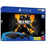 PlayStation 4 - Konsole (1TB, schwarz, slim) inkl. Call of Duty: Black Ops 4 + 2 DualShock Controller