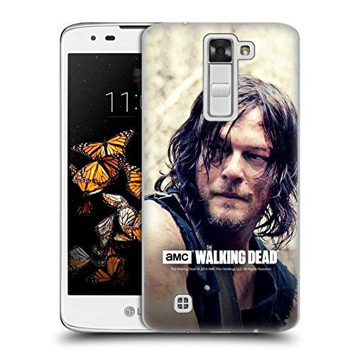 Ufficiale AMC The Walking Dead Mezzo Corpo Daryl Dixon Cover Retro Rigida per LG K8 / Phoenix 2