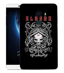 Snoogg Elzero Skull Designer Protective Back Case Cover For LETV LE MAX