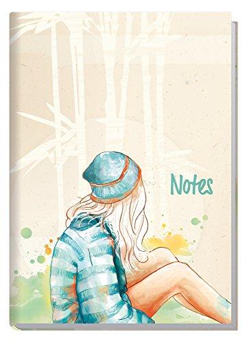 Notizbuch A5 liniert [Mädchen] von Trendstuff by Häfft | als Tagebuch, Bullet Journal, Ideenbuch, Schreibheft | stylish, robust, biegsam, abwischbares Cover