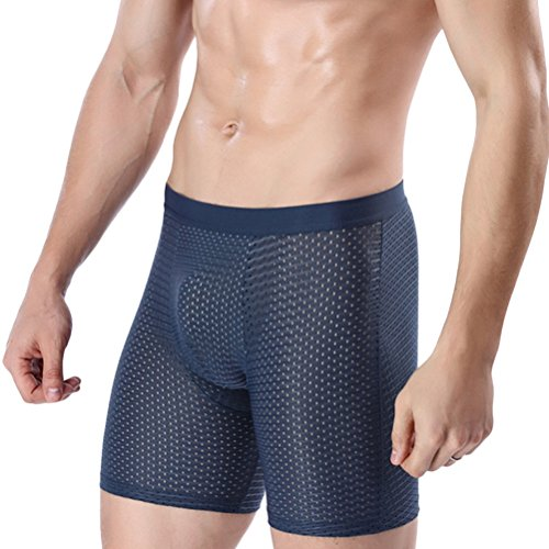 Active-hip Brief (Zhhlaixing Männer Lange Bein Unterwäsche Urlta Thin Ice Silk Trunk Boxer Active-Wear Stretchy Hips Seamless Flat Underwear Quick Drying)