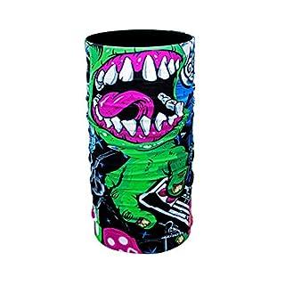 ZaPro HD Druck Premium - Multifunktionstuch - Verschiedene Designs Bedrucktes Halstuch Motorrad Sommer Frühling Totenkopf Skull Fastnacht Bunt Maske Joker Buff Tuch Venom (Green Monster)