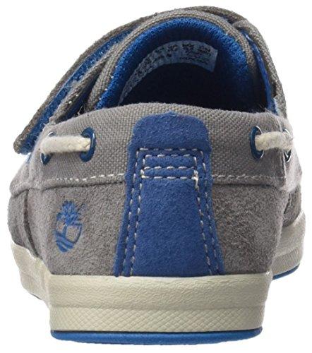 Timberland Unisex Baby Dover Bay H&L Boatsteeple Lauflernschuhe, Grau (Steeple Grey with Mykonos Blue), 27 EU -