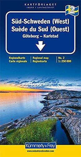 Sweden South (West) 2 k&f Göteborg/Karlstad: Goteborg, Torsby, Ludvika (Regional Maps - Sweden) par Hallwag Kummerly & Frey AG