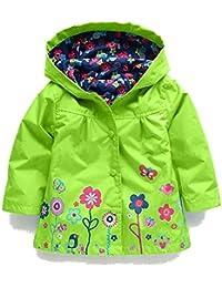 AILEESE Los niños de la Muchacha del bebé Traje de la Capa Impermeable con Capucha Outwear Impermeable otoño Cazadoras a Prueba de Agua
